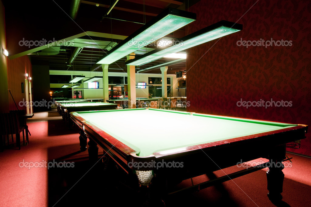 Shot of billiard room with tables, interior — Stock Photo #5942578