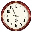 Stock Photo: Red clock