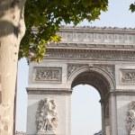 View of the Arc de Triomphe in Paris, France. — Stock Photo