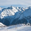 On the slopes of the ski resort of Solden. Austria — Stock Photo