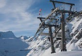 Props ski lifts. The resort of Solden. Austria — Stok fotoğraf