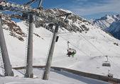 Props ski lifts. The resort of Solden. Austria — Stock Photo