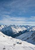 On the slopes of the ski resort of Solden. Austria — Stock Photo