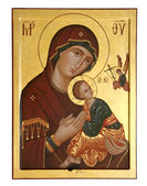 Old icon of the Mother of God — Stock Photo