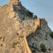 Genoese Sudak Castle. Cimea, Ukraine - Stock Photo