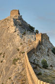 Genoese Sudak Castle. Cimea, Ukraine — Stock Photo