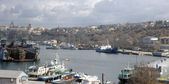 In the port of Sevastopol — Stock Photo