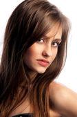 Portrait of a cute brunette girl — Stock Photo
