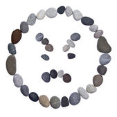 Emoticon smiley stone — Stock Photo