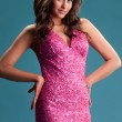 Womin pink dress — Stock Photo #6257754