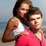 chlap drží přítelkyně — Stock fotografie
