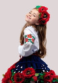 Little girl dress in color — Stock Photo