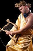 Man with a harp — Stock Photo