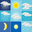 Varied weather — Stock Vector