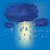 Thundercloud with rain — Stock Vector
