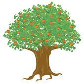 Year apple tree — Stock Vector