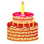 Festive cake — Stock Vector