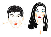 Illustration male and feminine person — Vetorial Stock
