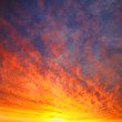 Royalty-Free Stock Photo: Sky in fire