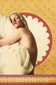 Colagem vintage, cartão postal de arte — Foto Stock