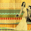 Wedding retro art collage — Stock Photo