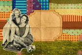 Schoonheid jonge vrouwen in park — Stockfoto
