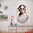 Vintage collagw in room with mirror — Stock Photo #5846047