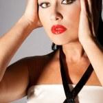 Mode-Porträt von schöne junge Frau — Stockfoto