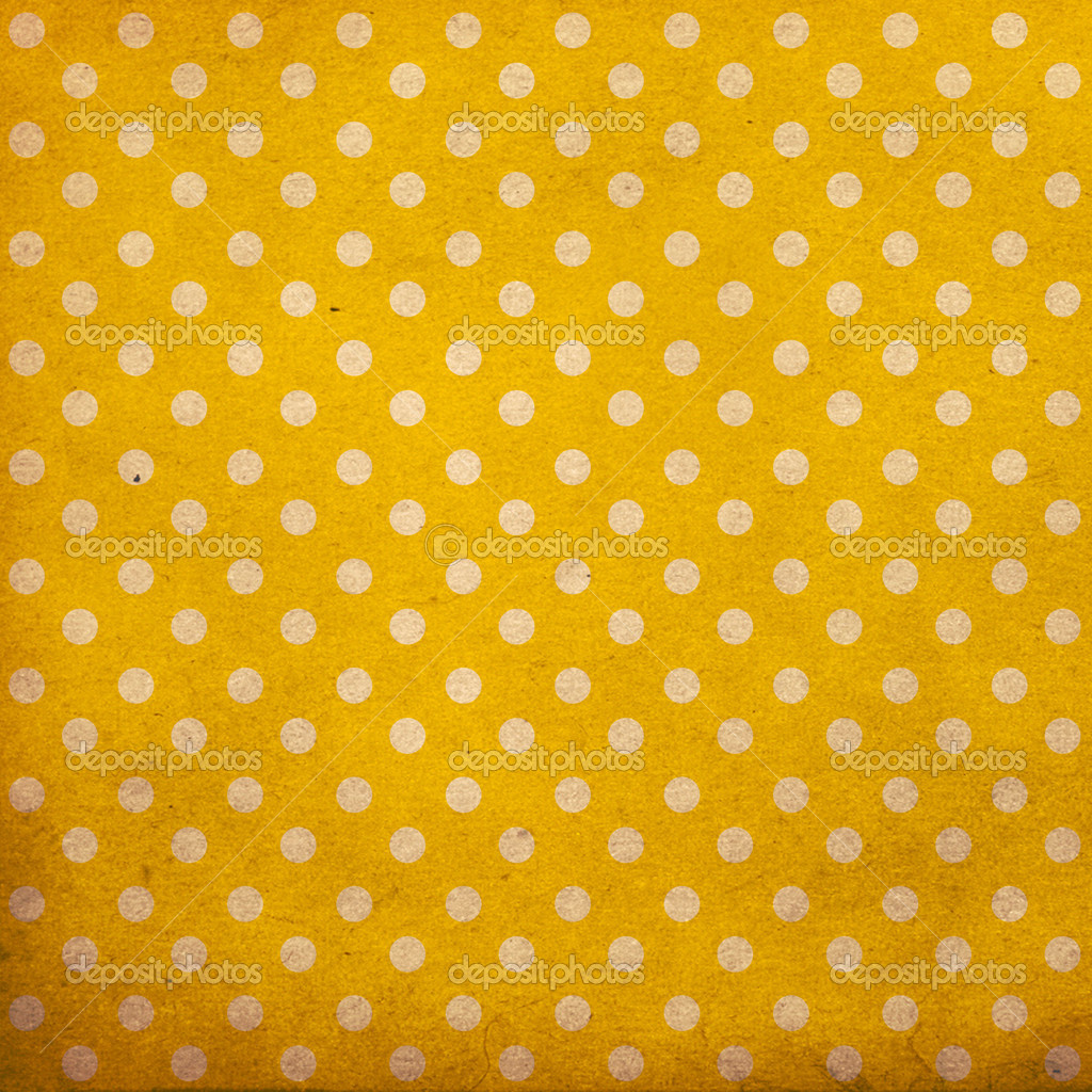 Polka dot vintage pattern, yellow  Stock Photo #6437328