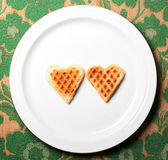Sweet wafer heart — Stockfoto