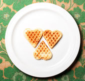 Sweet wafer heart — Stock Photo