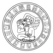 Symbole maya vector — Vecteur