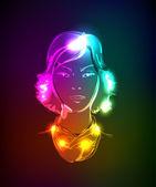 A light girl's — Stock Vector