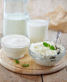 Fresh milk products — Stock Photo