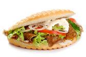 Kebab sandwich — Stock Photo