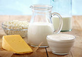 Fresh dairy products — Foto de Stock