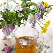 Fresh herbal tea — Stock Photo