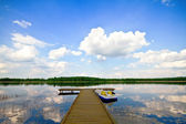 Summer Lake, Pierce — Stock Photo
