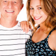 Close-up portrait of happy father and daughter — Stock Photo #5887990
