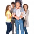 Joyful family of five — Stock Photo #5944274