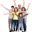 Happy family of five with young kid — Stock Photo #5944297