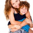 Mother hugging her lovable young kid — Stock Photo