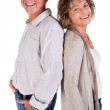 Elder couple lovers, back to back — Stock Photo #5944427