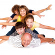 Cheerful family having fun in the studio — Stock Photo