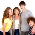 Family isolated on white background — Stock Photo