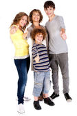 Thumbs-up family — Stock Photo