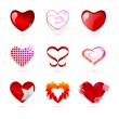 Different types of hearts — Stock Photo