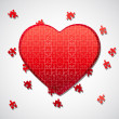 Jigsaw puzzle heart - Stock Photo