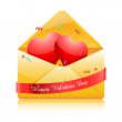 Stock Photo: Hearts in envelope
