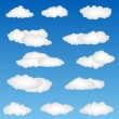 Cloud shapes — Stock Photo